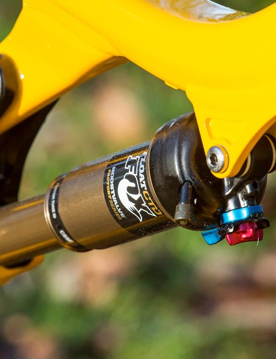 The Kashima coated rear shock floats smoothly over most obstacles thrown at it