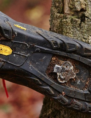 Although the Vibram sole quickly peeled off of multiple test samples of the Giro Terraduro, we have had no such problems on the Alpineduro
