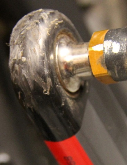 This is why the XX1 carbon crank boots are a good idea…