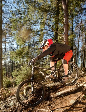 As well as making the most of the 'fun' parts of the trail (like this), the Devinci copes well with climbing