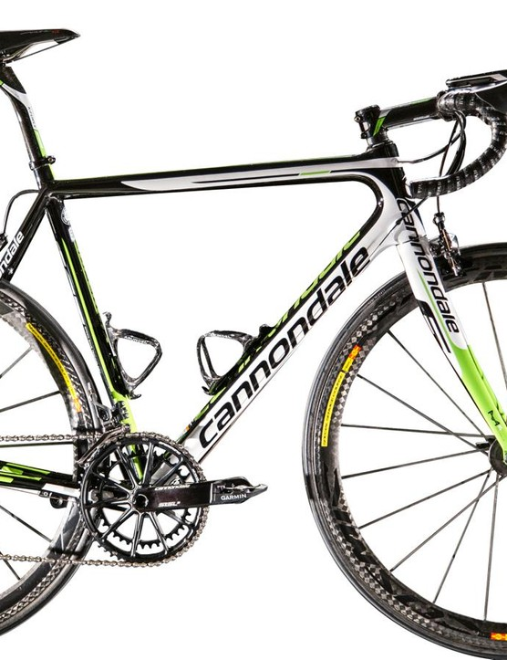 The SuperSix EVO Hi-Mod will be the Cannondale-Garmin team's principal bike for road races