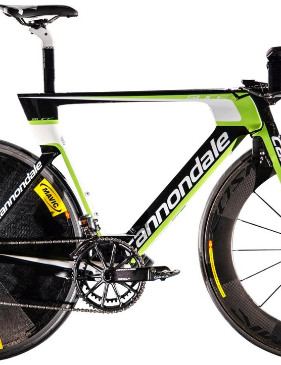 The Slice RS will be used by Cannondale-Garmin against the clock