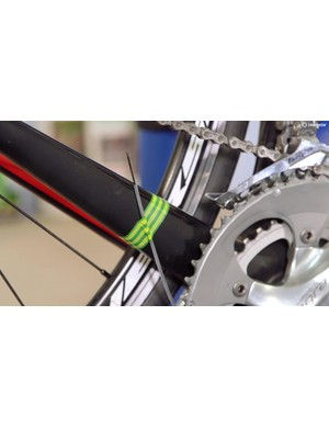 When clear of the other end, you can untape the pipe and pull it off the inner gear cable