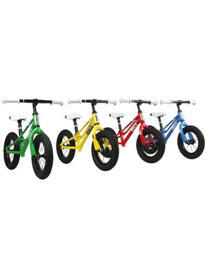 The new world championship-coloured Hoy Napier balance bikes will also be on show