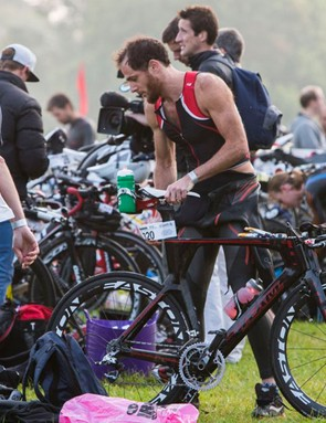 You'll have to get used to the mania of transition before a race