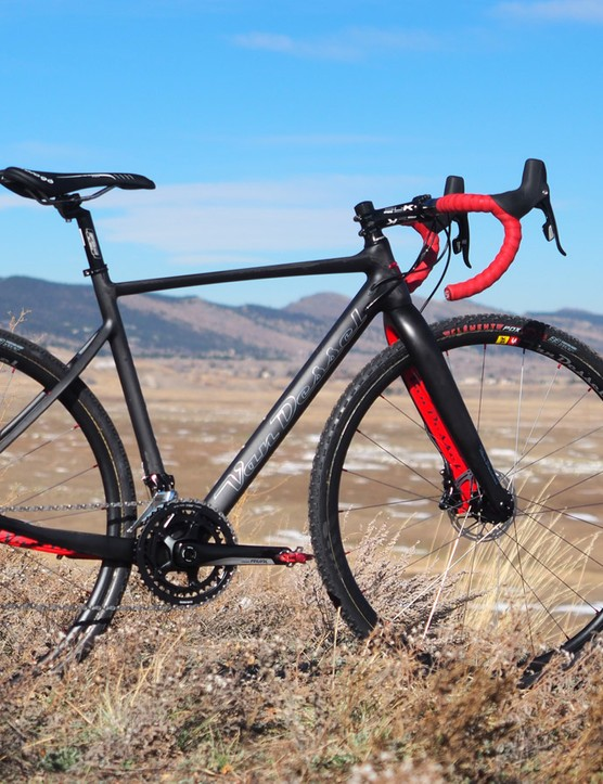 Van Dessel's revamped Full Tilt Boogie is thoroughly updated with a sleek new carbon frame, front and rear disc brakes, and front and rear thru-axles