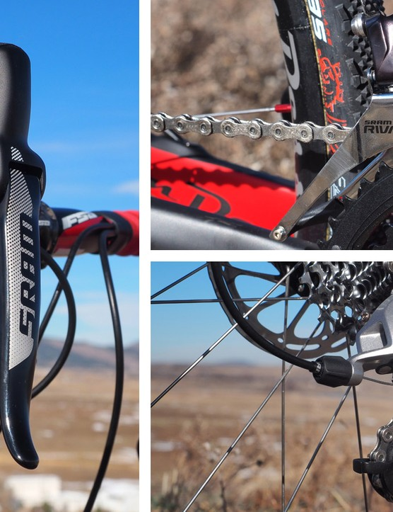 Shift performance on the SRAM Rival 22 HRD transmission was characteristically precise, rattling off consistent shifts in the company's trademark staccato fashion