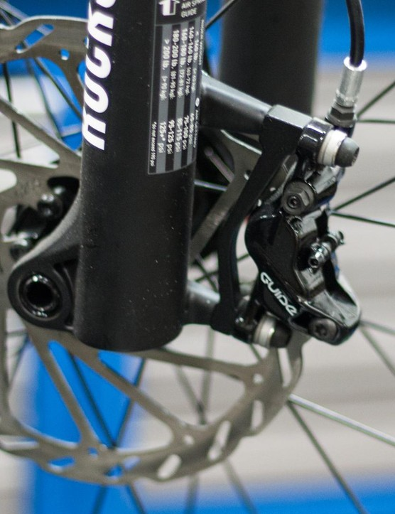 SRAM's Guide RS stoppers are highly rated, but are they necessary on a 26lb (11.8kg) hardtail?