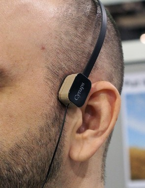 Upstart company Cynaps showed off its new Mint bone conduction headphones. The transducers can be separated from the headband and attached to helmet straps, a hat, or other headwear for a versatile - and safe - solution for listening to your favourite music during a ride