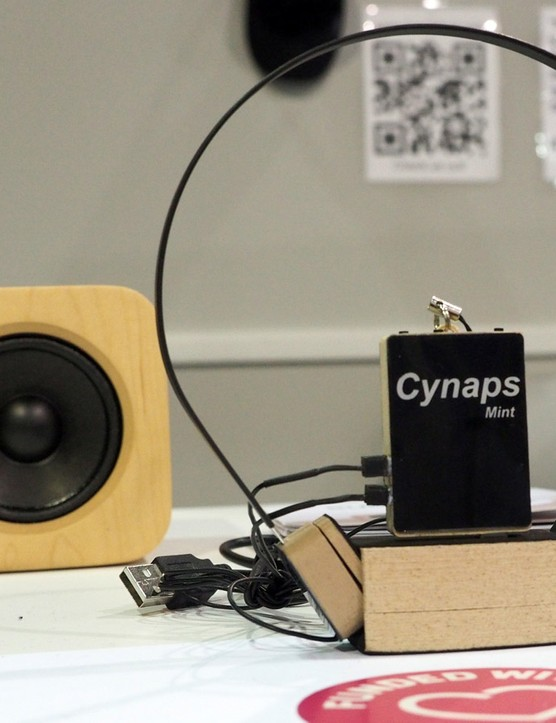 While the Cynaps Mint has wires connecting the transducers to the main power source, the unit connects to your music source via Bluetooth