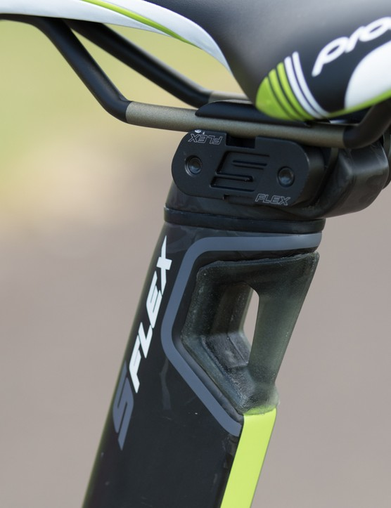 The Reacto's 'S-Flex' seatpost is designed to offer seated compliance