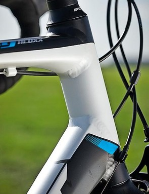 The Defy has a medium-length head tube ideal for endurance riding