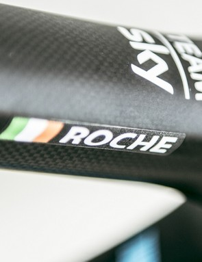 Roche's name looks a good fit on the top tube