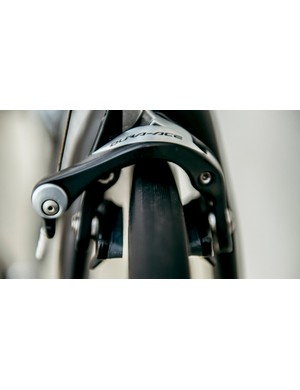 The Dura-Ace brakes offer solid stopping performance