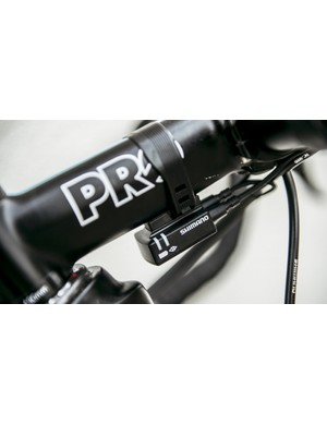 The Di2 junction box sits under the stem
