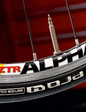 Stan's NoTubes Alpha 340 Team wheels are light and lively performers