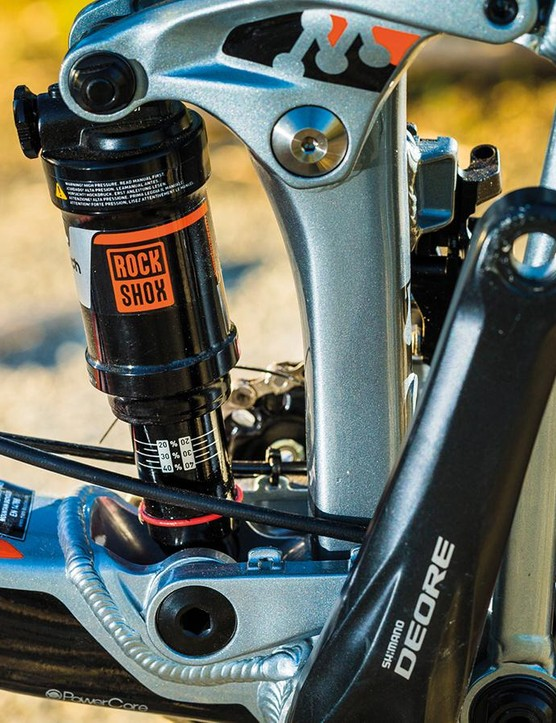 The Maestro suspension gives a surprising amount of consistent control and smooth comfort for 100mm of travel, but can feel soft if you're really stamping power through it