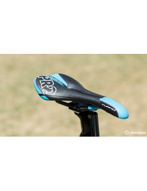 A PRO Turnix saddle gives Kittel a place to sit when he's not flat out sprinting