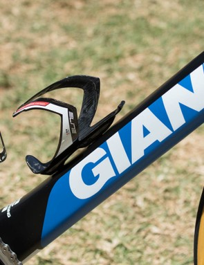 These Elite carbon bottle cages were swapped out for alloy cages prior to the People's Choice Classic criterium