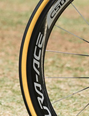Shimano Dura-Ace C50 wheels are an extremely common sight in the peloton this year