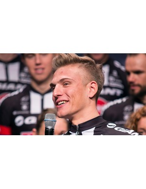 What better rider to promote Alpecin hair product than Marcel Kittel