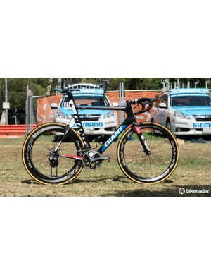 For the People's Choice Classic criterium, Kittel changed to alloy bottle cages and a depper Dura-Ace C75 rear wheel