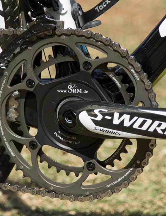 Astana uses SRM with Specialized S-Works cranks