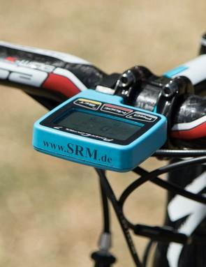 Like the other teams, Astana has a custom-coloured SRM Power Control 7 head unit