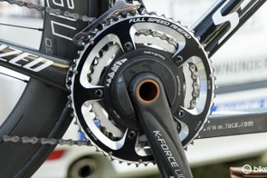 Ettix-QuickStep is using Power2Max power meters, but we also saw hints of SRM