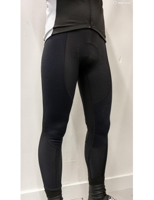 Vermarc's Antivento tights feature some sections made from windproof softshell material