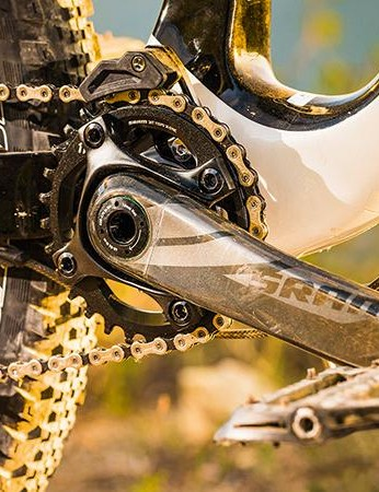 SRAM chain and ring security is boosted by a neat top guide