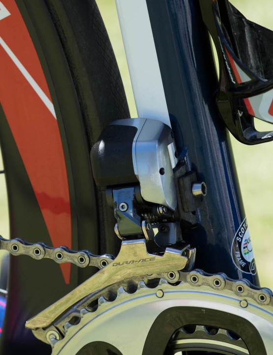 A closer look at the Scott Foil's wheel hugging seat tube shape