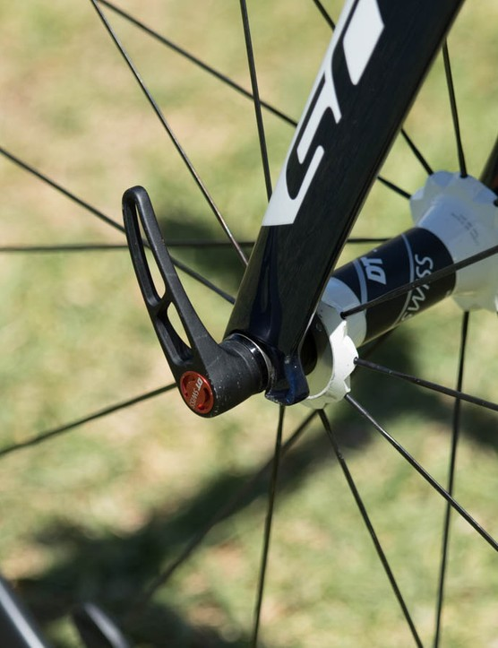 DT Swiss wheels include the RWS skewers, these allow for high clamping force and can be tucked away in any direction