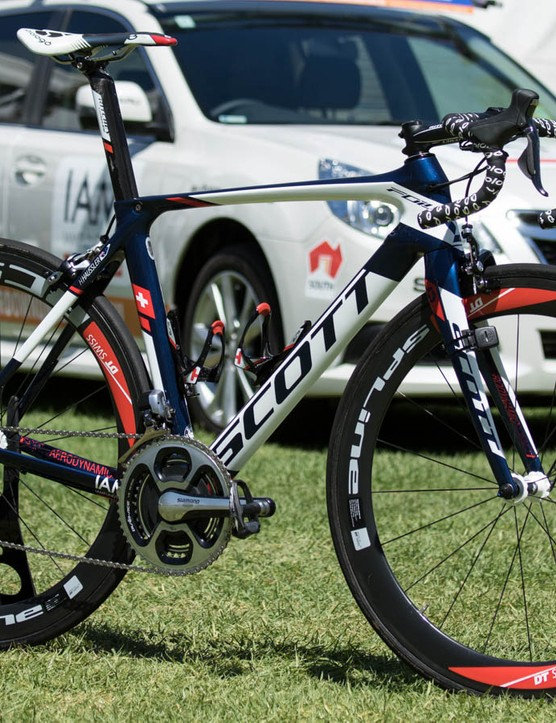Another angle of Heinrich Haussler's IAM Cycling Scott Foil - the paint has a real sparkle to it