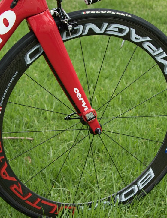 Slightly older Campagnolo Bora Ultra Two wheels feature a 50mm deep rim profile