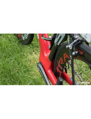 Cervelo's S3 frame uses it's own 'BBRight' bottom bracket standard, extending the bottom bracket shell a further 11mm on the left side as compared to BB30 shells