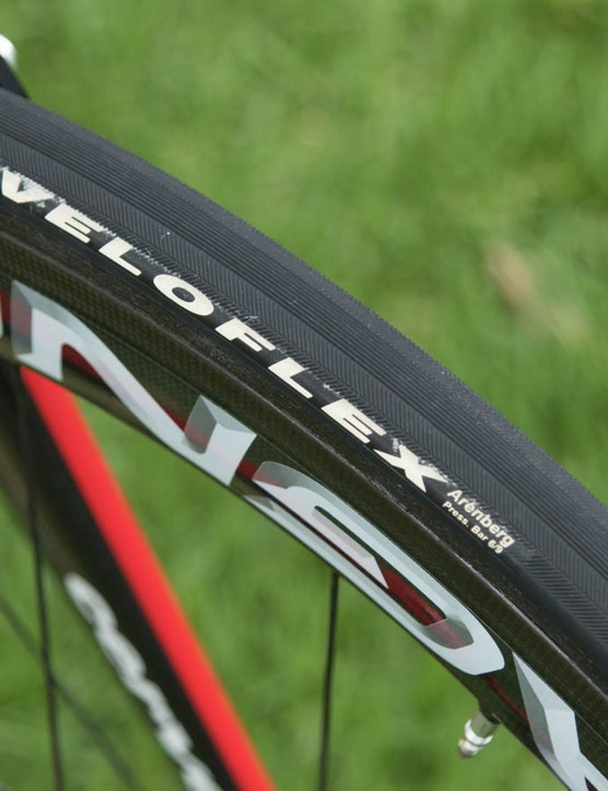Veloflex Arenberg tubulars aren't the very fastest but should be very durable on Australia's roads