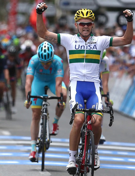 Jack Bobridge took the win on the Tour Down Under's first stage and he holds onto the leaders jersey going into the third stage