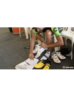 Beginning of the season and some riders can be seen swapping to new shoes