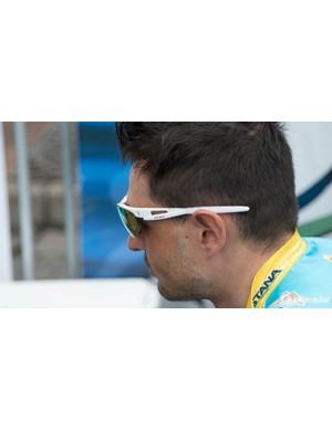 Davide Malacarne of Astana wears Sziols glasses - we know little of this German eyewear brand