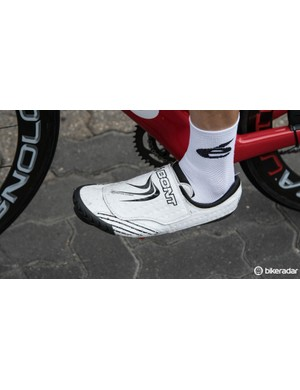 Winner of the Tour Down Under's first stage, Jack Bobridge rides in Bont Zero+ shoes