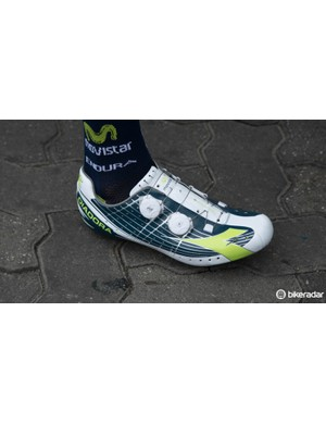Movistar have team-issue Diadora Vortex Pro shoes