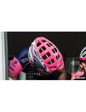 Lampre-Merida are using all-new helmets from Suomy - here's a new view of the lid that's soon to be launched