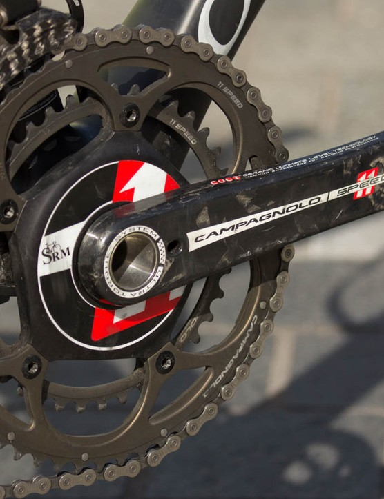 Providing the data is a SRM Campagnolo 11-speed crank