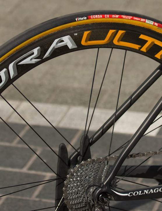 The Campagnolo Bora Ultra Two wheels are an older model, recently replaced by the Campagnolo Bora Ultra 50