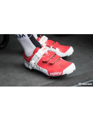 Not all IAM Cycling riders are in Scott shoes – we spotted one rider in a pair of Suplest Street Racings