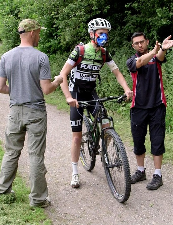 Hurst and his team set nine mountain bikers to work on a 3.48km cross country course