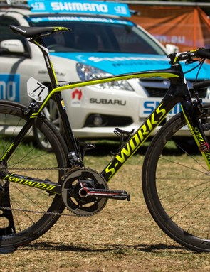 2015 Tinkoff-Saxo team bike - Michael Rogers' Specialized S-Works Tarmac