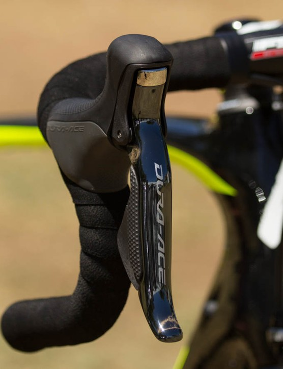 We're told Tinkoff-Saxo actually buys its Shimano Di2 components (albeit at a reduced rate). Think about that one if chasing free stuff for your racing…