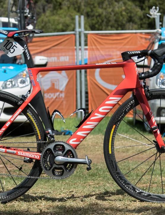 Katusha's Rudiger Selig rides a Canyon Aeroad CF SLX